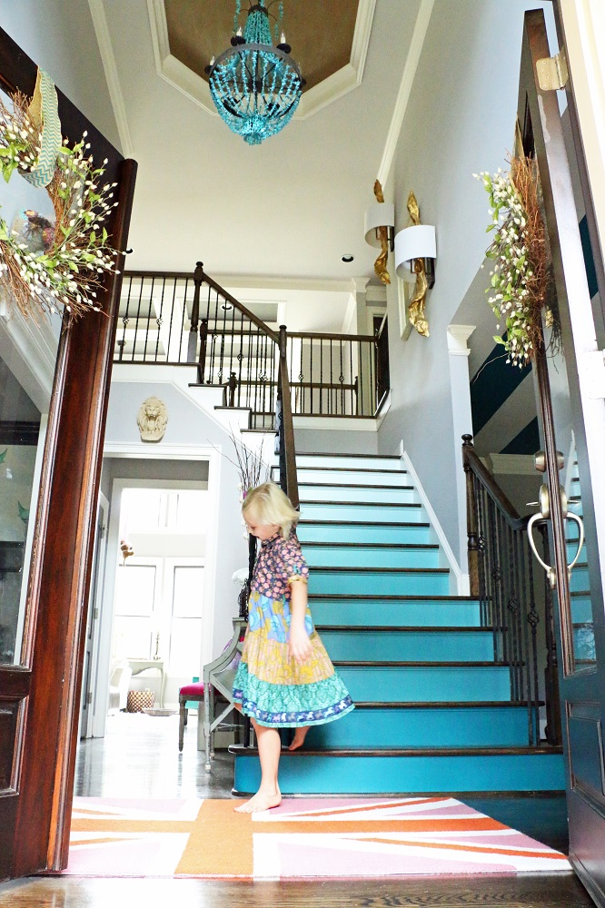 Lighting Basement Washroom Stairs: Stairway To Ombre Heaven