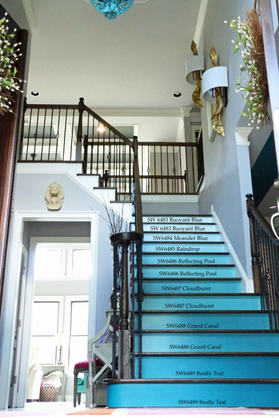 Painting Foyer Stairs : Stairway to ombre heaven addison s wonderland
