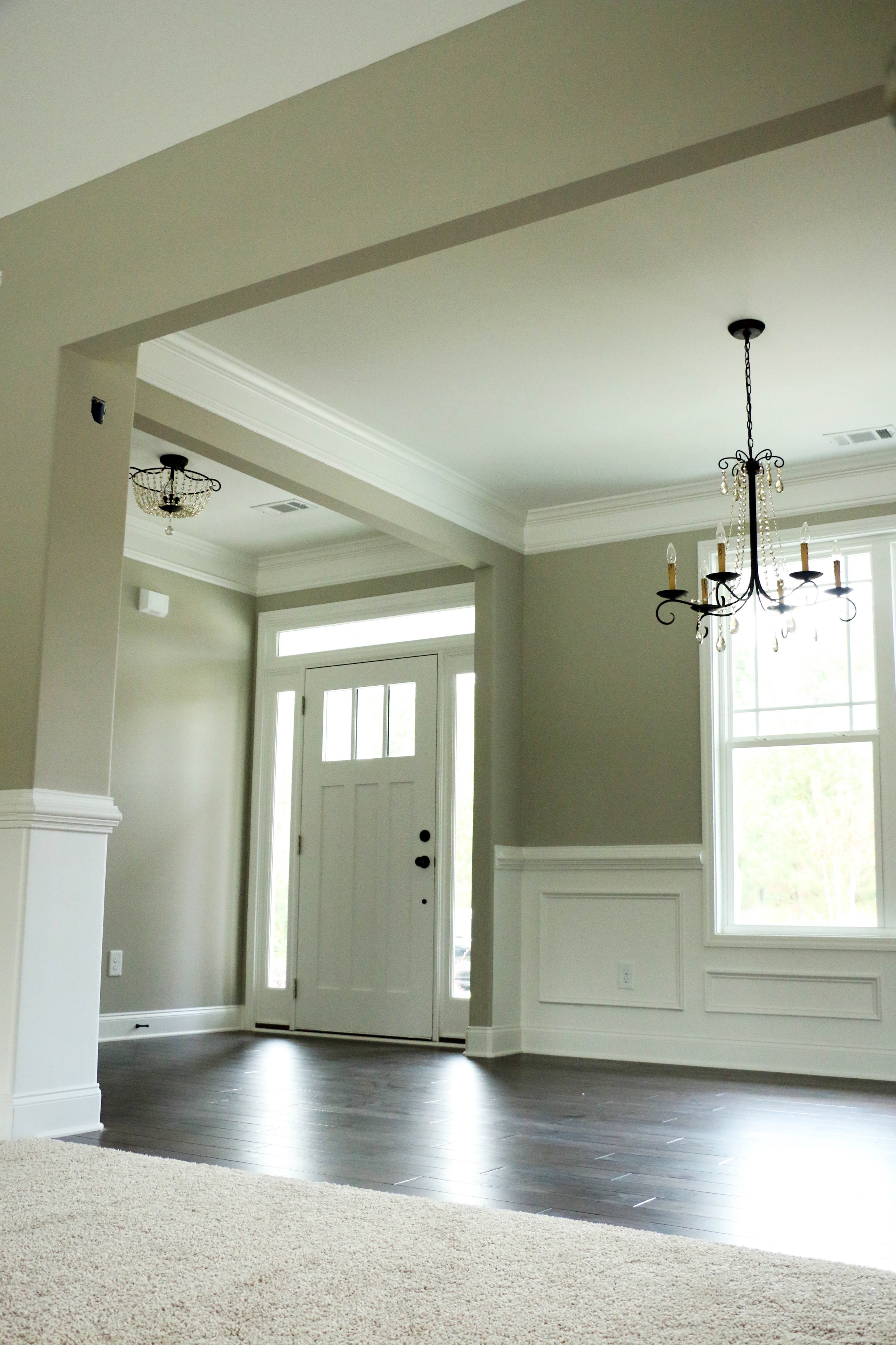 Popular trim colors for white houses - House 66