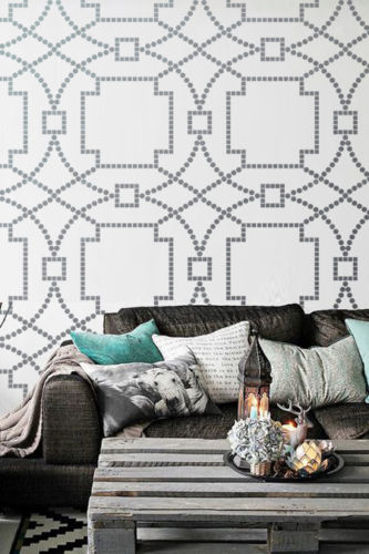 Wall-Stencil-Trellis-Geometric-Allower-Pattern-Room-Decor-Home-Improvements-0107
