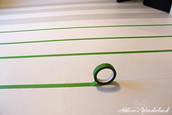 Painted Stripes Hardwood Floors 12