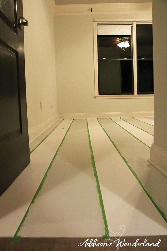 Painted Stripes Hardwood Floors 14