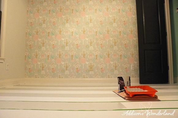 Painted Stripes Hardwood Floors 15