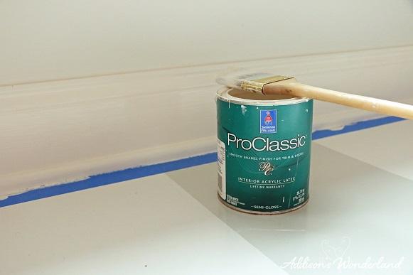 Painted Stripes Hardwood Floors 16
