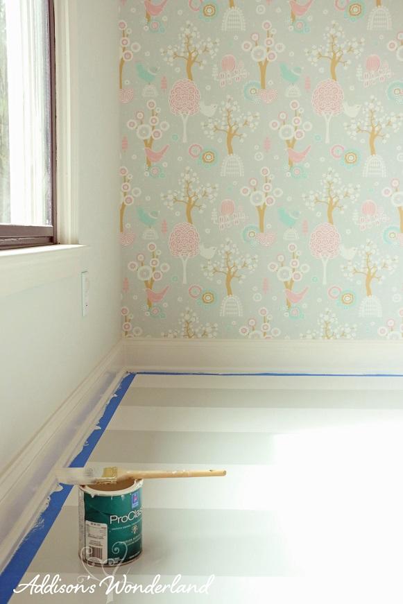 Painted Stripes Hardwood Floors 17