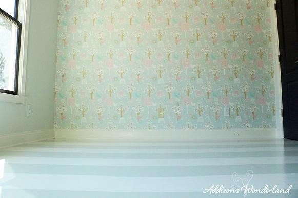 Painted Stripes Hardwood Floors 18