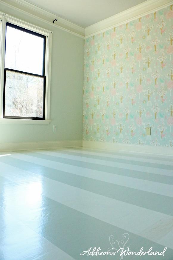 Painted Stripes Hardwood Floors 20