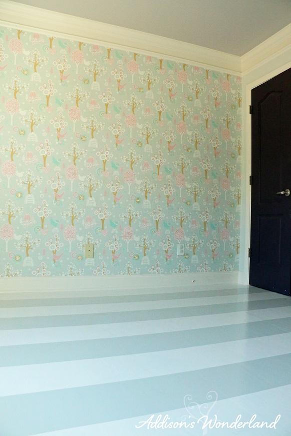 Painted Stripes Hardwood Floors 21