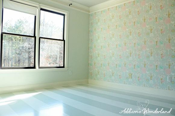 Painted Stripes Hardwood Floors 22
