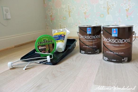 Painted Stripes Hardwood Floors 4