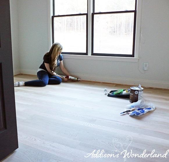 Painted Stripes Hardwood Floors 5