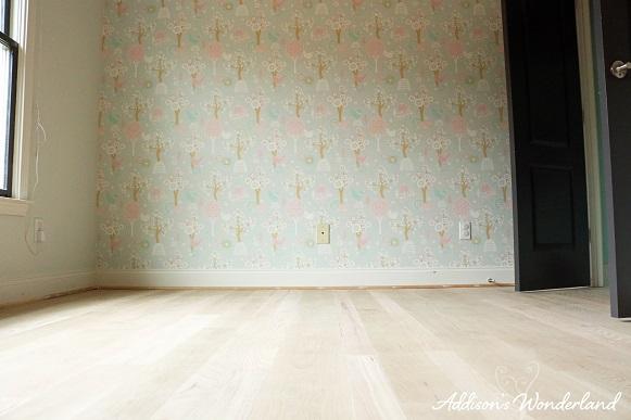 Painted Stripes Hardwood Floors 6