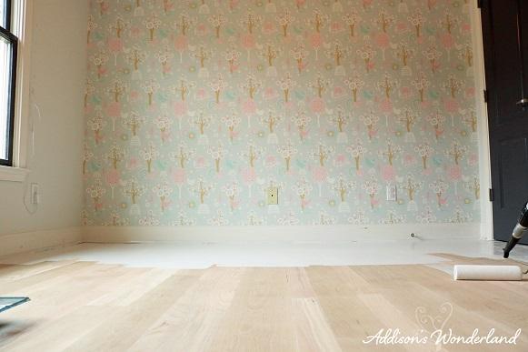 Painted Stripes Hardwood Floors 8