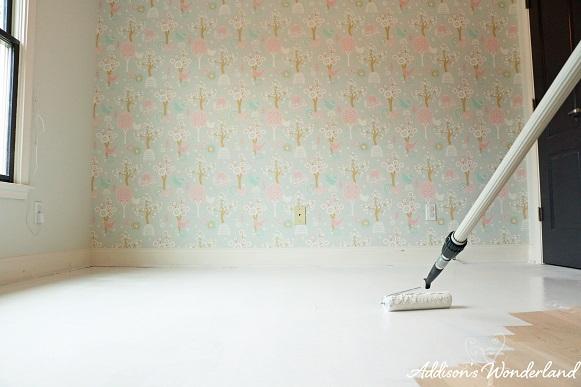Painted Stripes Hardwood Floors 9