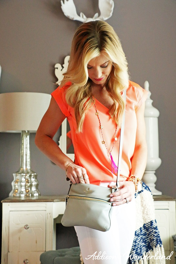 Orange Top White Jeans 1