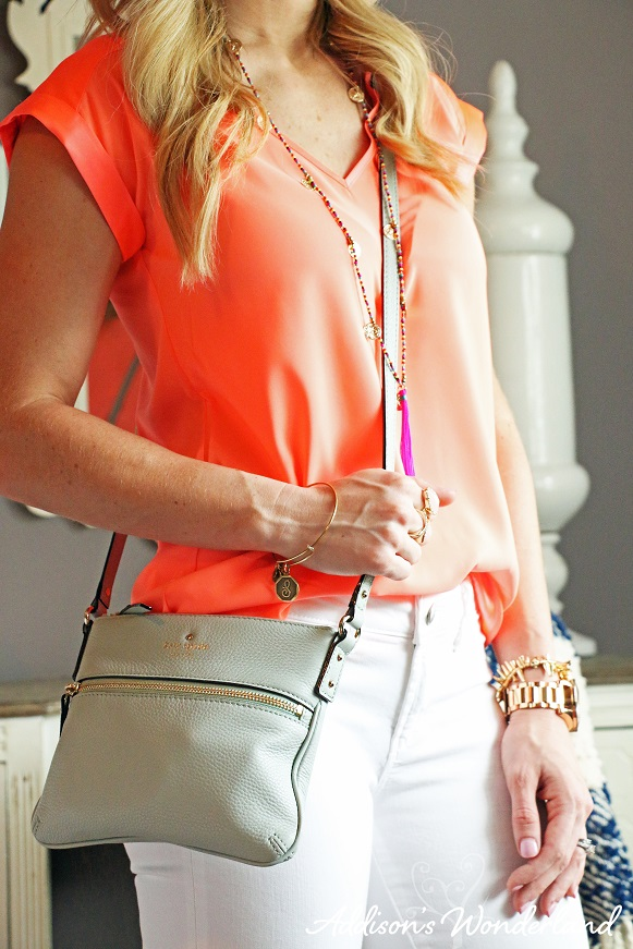Orange Top White Jeans 2
