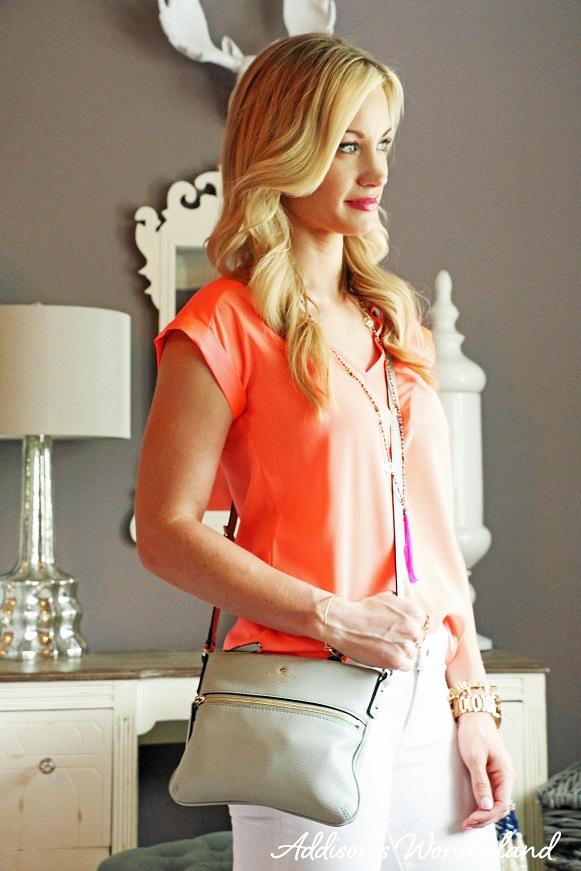 Orange Top White Jeans 3