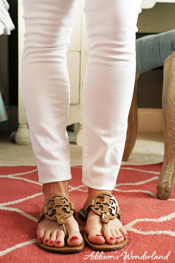 Orange Top White Jeans 5