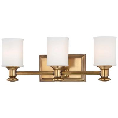 Minka Lavery Harbour Point 3-Light Liberty Gold Bath Light