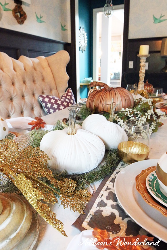 Fall Dining Room Table Display 10