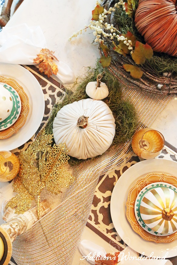 Fall Dining Room Table Display 11