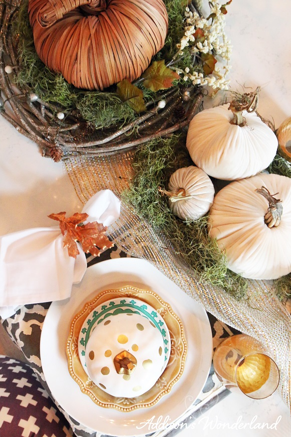 Fall Dining Room Table Display 19