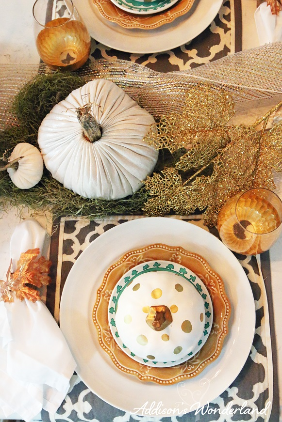Fall Dining Room Table Display 7