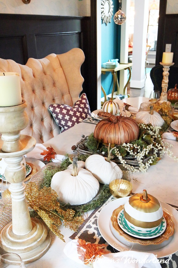 Fall Dining Room Table Display 8
