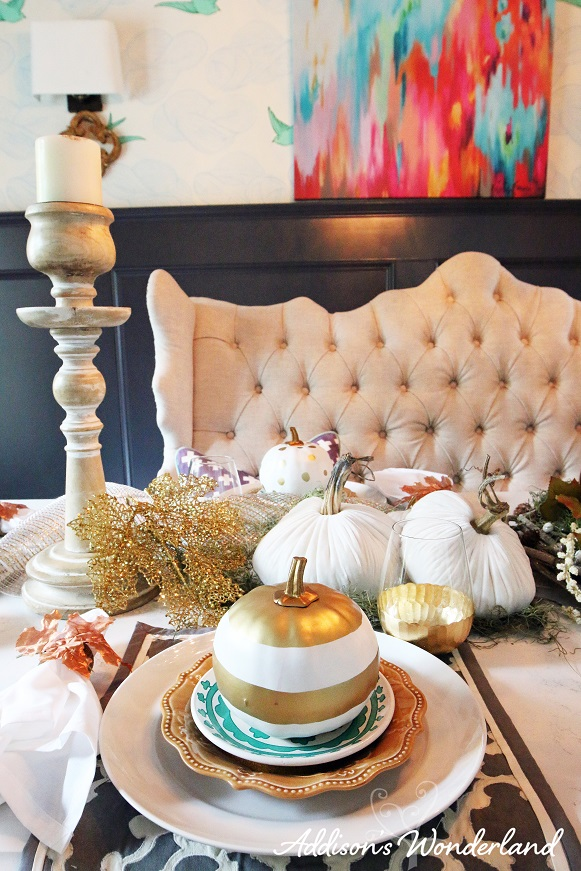 Fall Dining Room Table Display 9