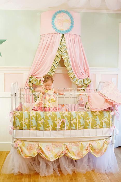 Addison Baby Tulle Crib Skirt 2