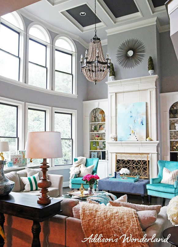 My dream living room addison 39 s wonderland for S carey living room tour