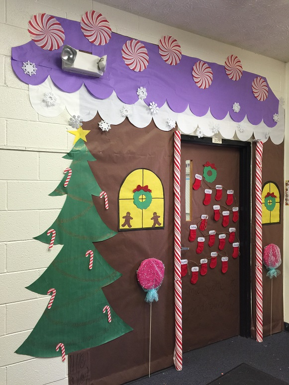 Art Decoration Ideas For Classroom ~ Gingerbread house classroom door addison s wonderland