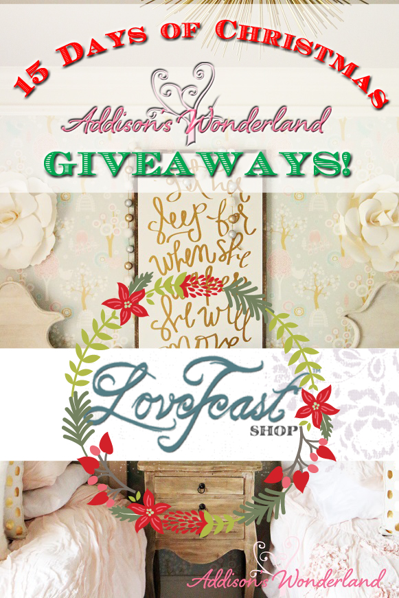 15 Days of AW Giveaways!- LoveFeast Shop