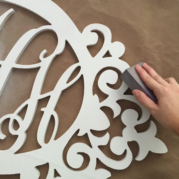 Wooden Monogram DIY 4