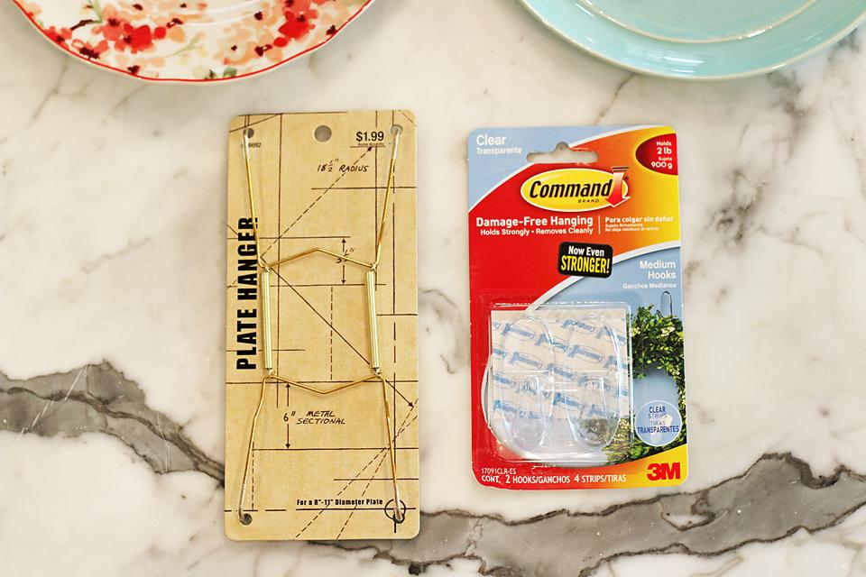 How To Hang Plates On Kitchen Backsplash 1