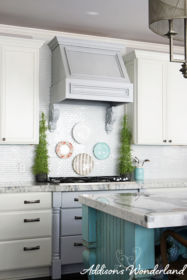 How to Hang Plates on Kitchen Backsplash 10 copy