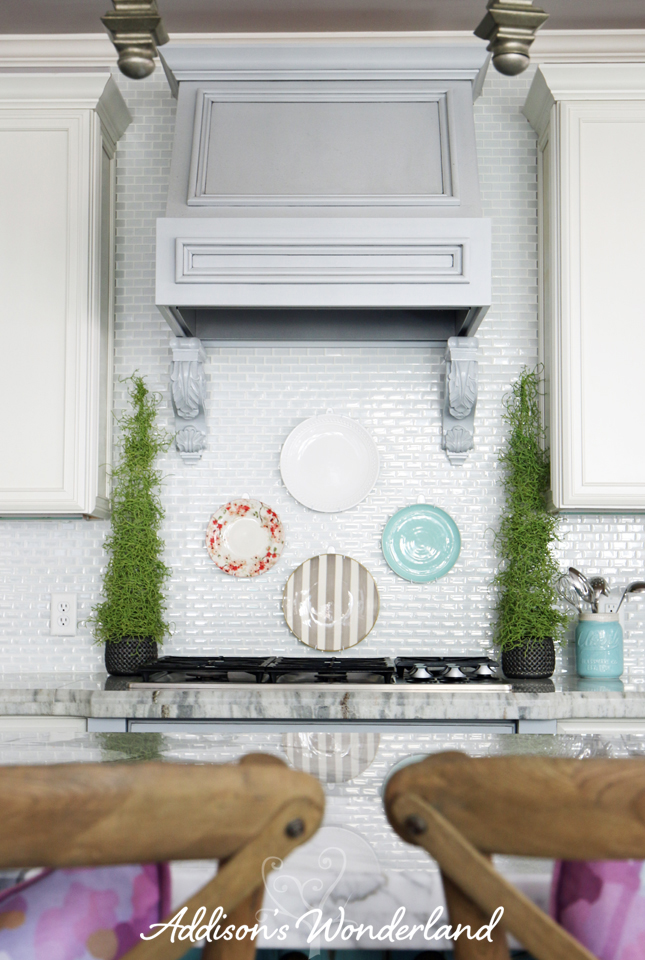 How to Hang Plates on Kitchen Backsplash 12 copy