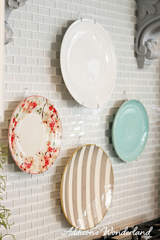 How to Hang Plates on Kitchen Backsplash 8 copy
