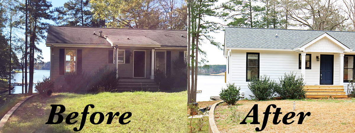 Lakehouse Before After