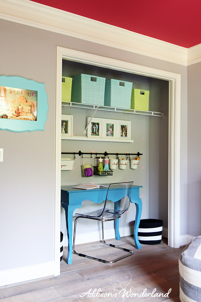 Desk In Closet extra closet turned craft center - addison's wonderland