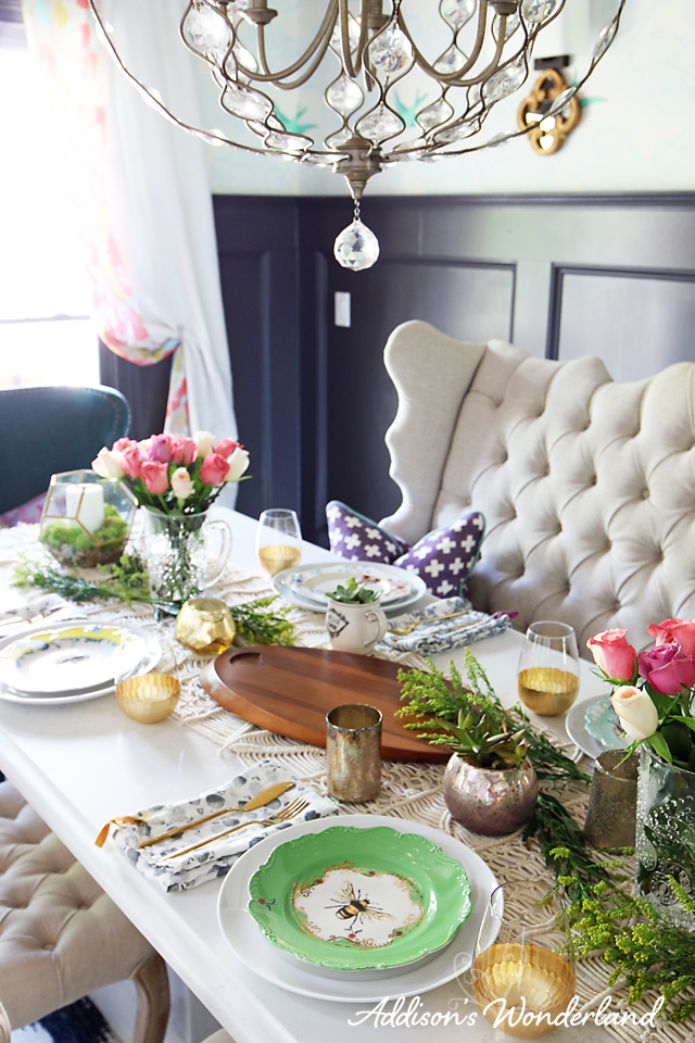 A1 Vintage Chic Table Setting