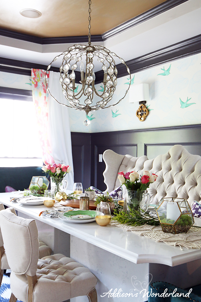 A5 Colorful Chic Dining Room Decor