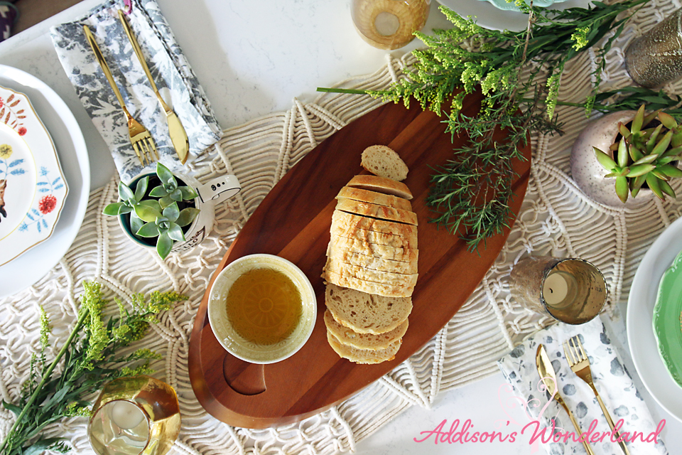 A7 Nambe Wooden Cheeseboard Table Setting