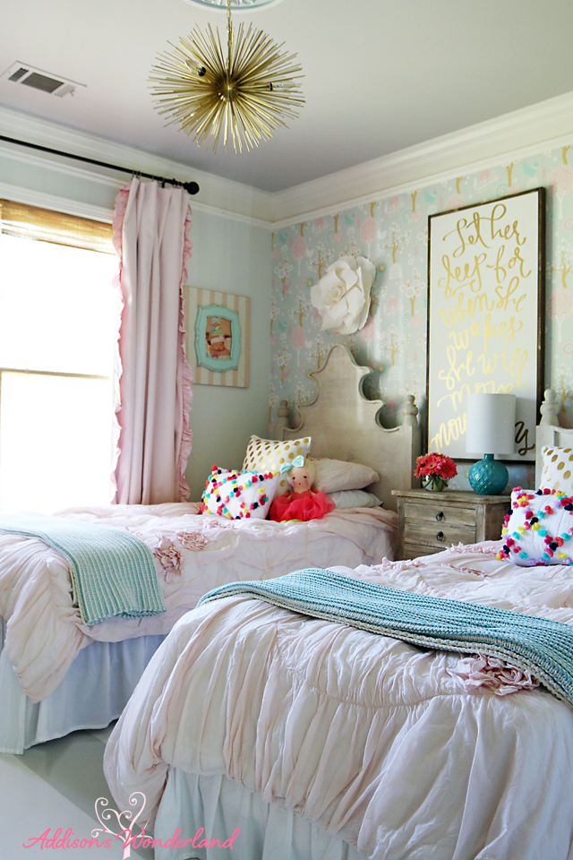 Summer Home Tour Girl's Bedroom 1