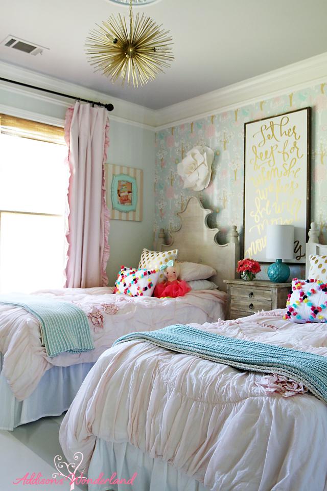 Summer Home Tour Girl's Bedroom 1
