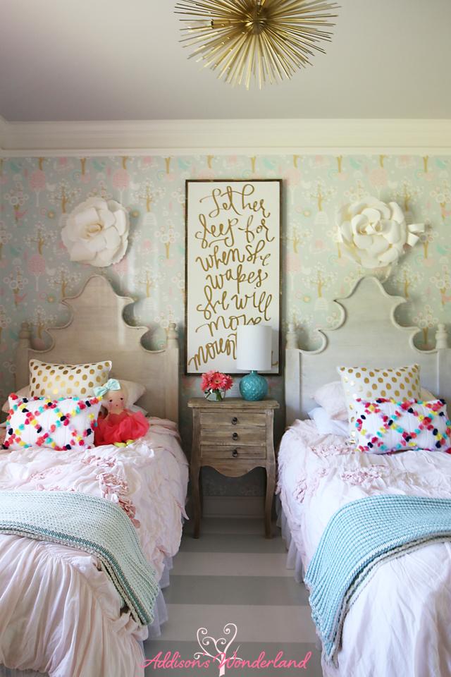 Summer Home Tour Girl's Bedroom 4