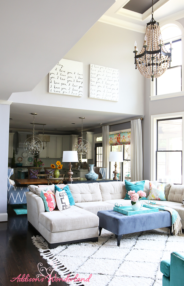 Summer home tour addison 39 s wonderland for S carey living room tour