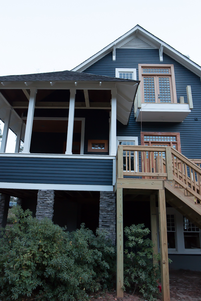 Exterior Craftsman Dark Gray Blue Navy Siding 7