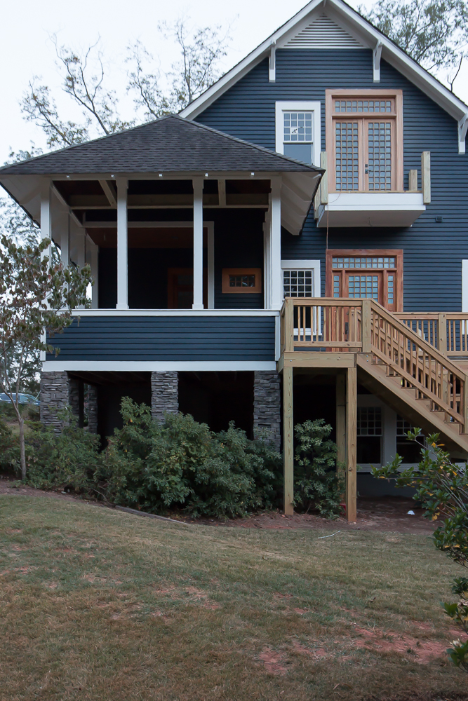 Exterior Craftsman Dark Gray Blue Navy Siding 8