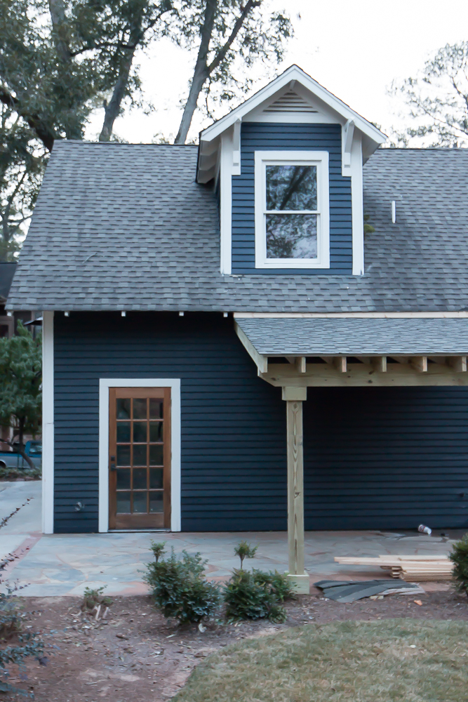 Exterior Craftsman Dark Gray Blue Navy Siding 9